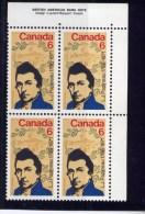 CANADA 1971, # 539. LOUIS PHILIPPE PAPINEAU , FRENCH CANADIAN Political Reformist UR BLOCK MNH - Blocs-feuillets