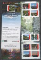 NEW ZEALAND, 2015, MNH, TARANAKI REGIONAL  LABEL BOOKLET, LIGHTHOUSES, MOUNTAINS,BRIDGES,BOATS,, BOOKLET - Vuurtorens