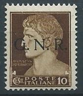 1944 RSI GNR BRESCIA 10 CENT MNH ** - S12-5 - 4. 1944-45 Repubblica Sociale