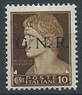 1944 RSI GNR VERONA 10 CENT MNH ** - S13-4 - 4. 1944-45 Repubblica Sociale