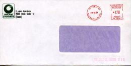 EMA Sur Enveloppe Entete GERLAND étanchéité Paris,square St Charles,lettre Obliterée Paris,12 Rue De Reuilly 29.10.84 - Chemie