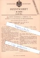 Original Patent - Dr. J. Tscherniac In Freiburg I. Br. , 1901 , Darstellung Von Benzylphtalimiden !!! - Historische Dokumente