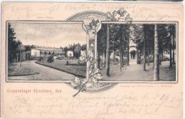 Truppenlager ELSENBORN Offizier Casino Jugendstil Belgique Verviers 25.7.1905 Gelaufen - Eupen Und Malmedy