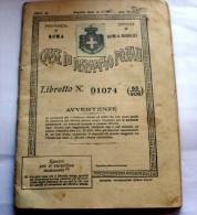 ITALIA 1940 - LIBRETTO DI RISPARMIO POSTALE ORIGINALE - Italia