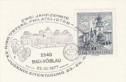 1977 GRAPES EVENT Pmk COVER (card) AUSTRIA Stamps Wine Fruit - Wines & Alcohols