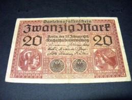 ALLEMAGNE 20 Mark 20/02/1918,pick N° 57,GERMANY EMPIRE - 20 Mark