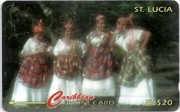 St. Lucia - Women In National Wear - 96CSLA - 1996, 30.000ex, Used - Santa Lucía