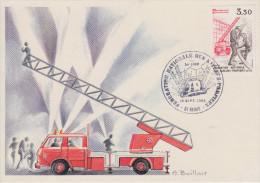 Carte  Maximum  1er   Jour   Fédération  Nationale  Des  Sapeurs  Pompiers    REIMS   1982 - Sapeurs-Pompiers
