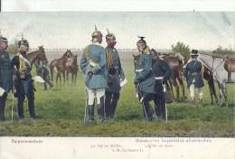 ARMEE ALLEMANDE -  Colorisée -Manoeuvres Impériales -Le Roi De Saxe - Général Molke - Guerra 1914-18
