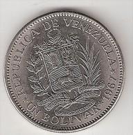 Venezuela 1 Bolivar  1967  Km 42  Unc - Venezuela