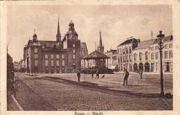 GOES Markt - Karte Gel.n.Wien 1928 - Goes