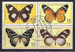 S. Tome And Principe .Fauna. Butterfly. - St. Thomas & Prince