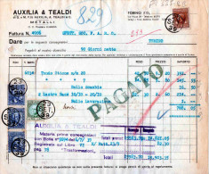 TORINO-DITTA AUXILIA & TEALDI-METALLI-23-9-1939- - Italia
