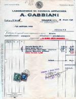 MILANO-25-6-1930-LABORATORIO DI CHIMICA APPLICATA -A. GABBIANI - Italia