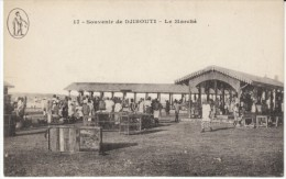 Djibouti, Le Marche Market Scene, C1910s Vintage Postcard - Djibouti