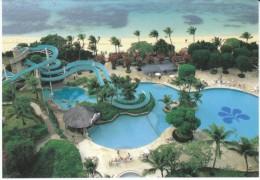 Saipan Northern Marianas Islands, Hotel Nikko Pool And Giant Water Slide View, C1990s/2000s Vintage Postcard - Mariannes