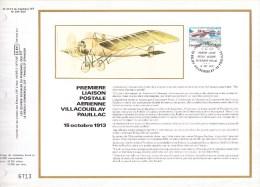 Feuillet CEF Sur Soie N° 473 S - Première Liaison Postale Aérienne Entre Villacoublay Et Pauillac - PA 51 (Yvert) - 1978 - 1970-1979