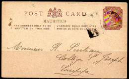 MAURITIUS 1884 - Entire Postal Card Of Two Cents From Rose-Hill To Curepipe - Mauricio (...-1967)
