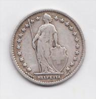 SWITZERLAND  SUISS   1 Franc 1901B Scarce Silver Coin - Switzerland