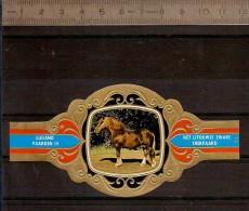 BAGUE DE CIGARE Grand Format 11,5 X 6 /LUGANO PAARDEN IV  N° 83  / CHEVAL / HET LITOUWSE ZWARE TREKPAARD - Cigar Bands