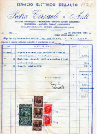 ASTI-DITTA PIETRO TERZUOLO-OFFICINA SPECIALIZZATA-16-12-1946-IMPOSTA SULL´ENTRATA LIRE 150 +LIRE 10 X 3+LIRE 2 X 2 - Italia