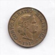 SWITZERLAND  SUISS  10 Rappen 1918 B  AU/UNC  *  HIGH GRADE COIN - RARE! - Switzerland