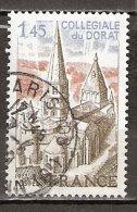 Timbre France Y&T N°1937 (03) Obl. Collegiale De Dorat.  1 F. 45. Gris-bleu Et Brun-olive. Cote 0.50 € - France