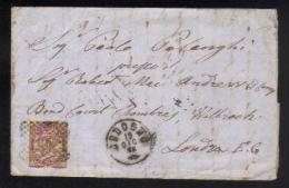 19 Dic 1875 - Cent. 30 - Sassone T19 - Da Codogno A Londra E.C. - 1861-78 Vittorio Emanuele II