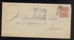 20 Mag 1897 - Cent. 2 - Sassone 66 - Da Veroli A Roma - Marcophilia