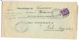 9 Apr 1945 - Cent. 50 - Sassone 507 - Da Tremosine A Rolo - Marcophilia