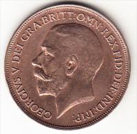 GRAN BRETAÑA 1917  1  PENNY (UN PENIQUE) JORGE V NUEVA SIN CIECULAR   CN4269 - 1902-1971 : Monedas Post-Victorianas