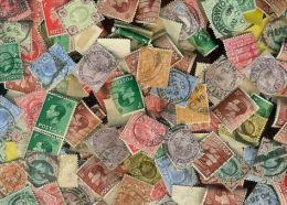 Great Britain KILOWARE Pre-QII LazyBag OFF PAPER 28g (1oz) Ca 310 Stamps GB   [vrac Kilowaar Kilovara] - Timbres