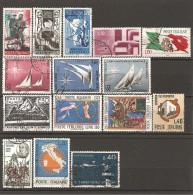 ITALIA - 1965  15 Francobolli Diversi, Perfetti E Con Annulli Non Deturpanti - 1946-.. République