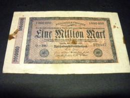 ALLEMAGNE 1000000  Mark ,1 Million  25/07/1923,pick N° 93 ,GERMANY Weimar Republic Inflation - [ 3] 1918-1933 : République De Weimar
