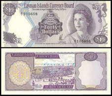 Cayman Islands 40 Dollars 1981 UNC RARE