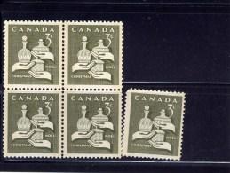 CANADA 1966, MINT # 443p-444p,  , SET Of  BLOCKS Of 4 &  SINGLES  MNH - Blocs-feuillets