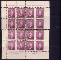 CANADA 1950,  #291,CENTENIAL POSTAGE DUE  FOURTH ISSUE    SET OF 4  PL  I,  BLOCKS M NH - 1937-1952 Règne De George VI