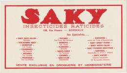 SAKY Insecticides Raticides - Bordeaux - Buvards, Protège-cahiers Illustrés