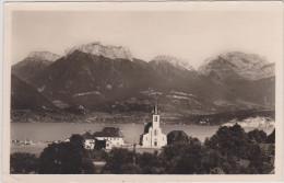 (R)HAUTE SAVOIE ;le Lac D'   Annecy, SEVRIER , L'église , Au Fond , Les Dents De LANFON Et La TOURNETTE - Annecy