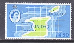 TRINIDAD & TOBAGO  102  **  MAP - Trinidad & Tobago (...-1961)