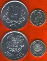 Armenia Set Of 2 Coins: 10 Luma & 10 Drams 1994 UNC - Armenia