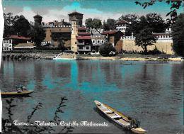 [DC5465] CARTOLINA - TORINO - VALENTINO - CASTELLO MEDIOEVALE -  Viaggiata - Old Postcard - Castello Del Valentino
