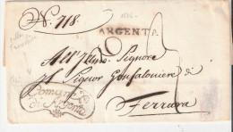 ARGENTA Avec Franchise Comune Di Argenta 1836 - 1. ...-1850 Prefilatelia