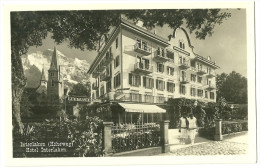 Suisse CPA Photo Interlaken Hoheweg Hotel Interlaken - Unclassified
