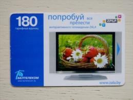 Chip Phone Card From Belarus 180un. Strawberries Zala - Belarus