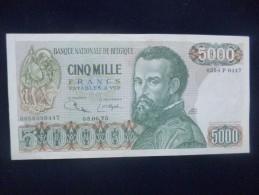 "BELGIQUE 500O FRANCS TYPE ""V�sale"" 3-6-1975 ETAT : SUP � NEUF 99% COTE : 185-275-400 EURO !!!"