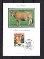 """FRANCE 2004 : Carte Maximum En Soie N° YT 3664 """" LA VACHE """" En Parfait état. CM"""