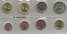 LITUANIA   I PRIMI EURO  - LE 8 MONETE 2015   FDC Da Rotolino - Sin Clasificación