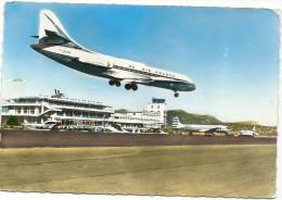 CPSM 06 NICE  AEROPORT ARRIVEE CARAVELLE AIR FRANCE - Aérodromes