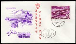 ÖSTERREICH 1962 - Donaukraftwerk Ybbs Persenbeug / 15 Jahre Elektrizitätswirtschaft - FDC - Fabriken Und Industrien